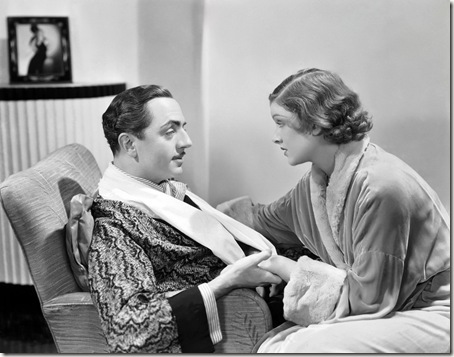 9th May 1934: Myrna Loy (1905 - 1993) and William Powell (1892 - 1984) play sleuthing couple Nick and Nora Charles in 'The Thin Man', directed by W S Van Dyke.